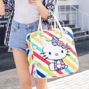 NEW Kitty Multi Colored Oversized Bag Carry On